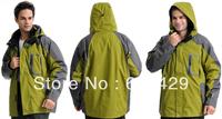 Free Shipping Low price Promotion Light Green Brand Men Outdoor Jackets / Winter sportswear C005