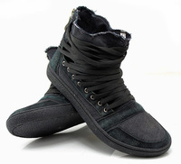 HOT Sale Trend High Top Lace Black Design Fashion Sports Canvas Shoes for Mens Flat heel Shoes Rubber Sole Sneakers Free Shiping