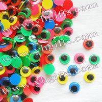 1000PCS/LOT.1.2cm colorful eyeball,Colorful board wiggle eye,Movable eye,Doll eyes,Craft material Handmade toys Freeshipping OEM
