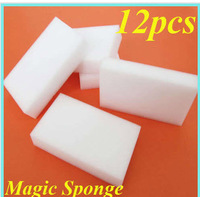 12pcs/lot Magic Sponge Clean Car Wash Cleaner Kitchen Cleaning Eraser Stain Remover Kit Whole sale Drop shopping[t02065]