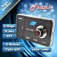 FreeShipping 2014 New Arrivals Full HD 1920*1080P 2.7 Inch Car Camera Recorder With Video Codec G-Sensor Car Black Box GF5000