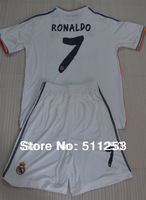 2013/2014  youth soccer jersey  kits Real Madrid Ronaldo #7  kids soccer uniforms children shirt