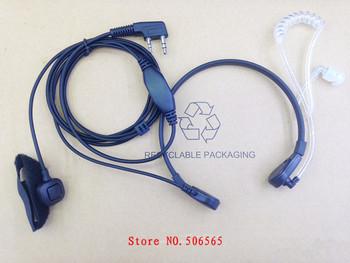 Throat control mic earphone for Kenwood ,Baofeng,TYT,QUANSHENG,Puxing Two way radio walkie talkie free shipping