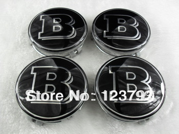 Black B-style Wheel Center Caps Emblem For Mercedes Benz E320 with free shipping