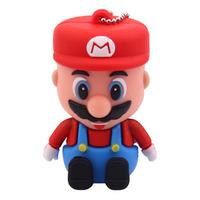Super Mario USB 2 flash memory stick saucer thumbling U disk 4GB/8GB/16GB/32GB will present a USB flash drive cartoon U disk