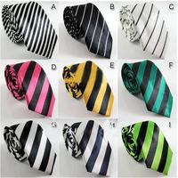 Mix Wholesale Lots Sale Striped Neck tie student School Uniform Neck tie Men Dress Bow Tie