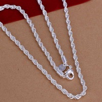 factory price top quality 925 sterling silver jewelry necklace fashion cute necklace pendant Free shipping SMTN067