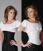 Plus size corselet  White Black Floral Brocade Cincher lace up Satin Underbust Corset S -4XL bustier top latex waist cincher