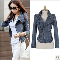2013 spring new Korean Slim Short Jacket denim jacket free shipping