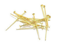 Free Shipping Fashion Accessories 500pcs/bag 40mm gold copper head pins findings for jewelry making :more color choice