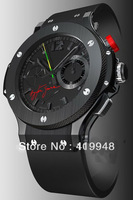 Free shipping ! 2013 Limted Edition Rattrapante Ayrton Senna Automatic Men's Watch BANG Wristwatch RUBBER