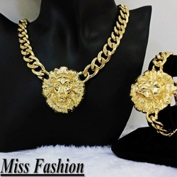 Min Order $10(Can Mix Item) Hotselling Chunky Metal Lion Head Chain Bracelets(China (Mainland))