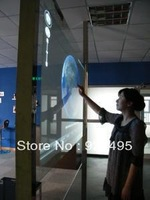 "37"" Touch foil through transparent glass for window shop advertising, can see any things through glass"