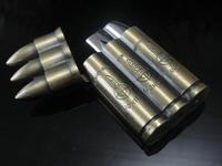 Lighter  New Arrival Unique Bronze 3 Bullet flip top Cigarette  lighter Wholesale  2pcs/lot [y0300]
