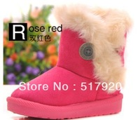 hot sell ! Retail boys girls Snow boots children Antislip child warm boots 3-8 years 5 clour