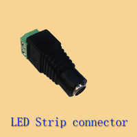 Free shipping led strip connector DC Female power socket connector adapter