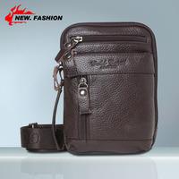 Free Shipping Black Brown Multicam Genuine Leather Men Messenger Bags Totes Man Belt Waist Pack Bag shoulder bag NP1252