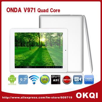 "DHL Free Shiping Onda V971 Allwinner A31 Quad Core 9.7"" IPS 2048x1536 Display Android 4.1 Tablet PC 16G ROM Dual Camera HDMI OTG"
