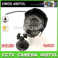 CCTV Outdoor/indoor Security Camera Day Night Vision Surveillance 3.6mm  Lens 24LED Weatherproof CCTV camera