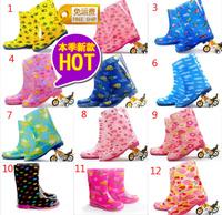 2013 children rain boots,kids rain shoes,waterproof boots,anti-skidding,with warm cotton inner pad , 12 colors 18cm--23cm