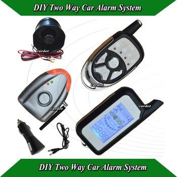 NEW DIY Two way car alarm door open alarm,shock sensor alarm,wireless learning alarm siren,no cutting wire,remote distance 1000m