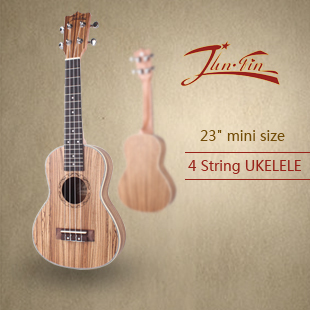 "High quality 23"" mini size Homeland Laminated zebra wood Soprano 4 String ukulele Acoustic Instrument ukelele   Free Shipping"