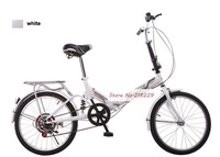 20inch variable speed folding bicycle 6 variable speed bicycle send by fedex
