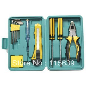 12 PCS/Set Household portfolio tool suit household hardware tools repair tool sets toolkit retail & wholesale(China (Mainland))