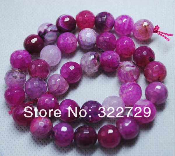 Free Shipping!10mm,Faceted Loose Dragon Vein Rose Agate Beads,Fit for DIY Jewelry Bracelet,Natural Semi-precious Stone,114Pc/Lot(China (Mainland))