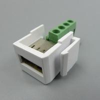 keystone USB USB wall plate with screw connector