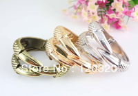 (Min order $10,Mix Order ) Wholesale 3colors bird eagle claw paw talon bangle cuff punk gothic rock