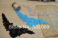 D382 embroidery lace decoration diy handmade flower patch for clothes flower felt lace applique decal patches cheap