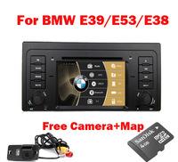 Top Selling Car DVD player for BMW E39 X5 E53 E38 built in GPS Bluetooth Radio TV USB SD IPOD RDS Canbus + Free shipping