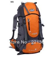 Free shipping 2013 Hot travel bag sport backpack waterproof outdoor mountaineering hiking camping backpack women&men 55L
