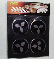 Mitsubishi wheel standard affixed to hub labeling,center of wheel cover stickers,mitsubishi badge free shipping