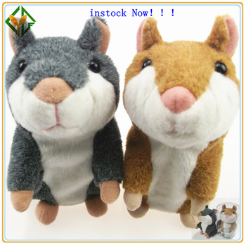 Instock!!! Sales and Promotion Free Shipping Drop Shipping Talking  plush animal hamster 6pcs with Retail box
