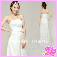 2013 princess bride wedding dress formal winter tube top trailing short formal dress maternity 024