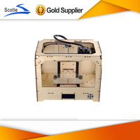 Free Shipping Dual Extruder 3D printer w/2 spools ABS filament  3d printer reprap machine