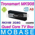 Tronsmart MK908 Quad Core TV Box Google Android 4.1 OS Mini PC RK3188 Cortex-A9 1.8GHz 2G RAM 8G ROM XBMC Bluetooth WiFi HDMI