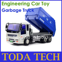 Engineering Car Series D02-6 Garbage Truck Car Clean Car Toy Green Toy for Child Hot Gift Promotion Price Free Shipping