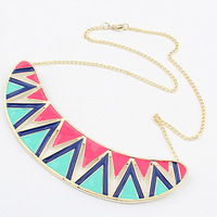 12pcs/lot Fashion Vintage Exaggerated Collar Necklace Metal Gold Plated Triangle Choker Necklace Jewelry for Women 2013