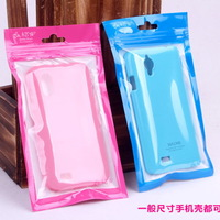 Hot Retail Packaging Zip Poly Bag Plastic Waterproof Bag Pouch for iPhone 3g 4gs 5 ,for Nokia Phone Case 100pcs DHL Free Ship
