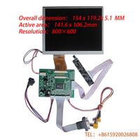 HD 7 INCH 4:3 TFT LCD ModuleVGA&2AV A/D Board 800*600Resolution