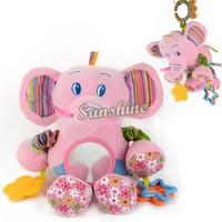 New Animal Soft Plush Crib Cot Bed Car Pram Windbell Hanging/ Hand Rattles Baby Toys Free Shipping 10829