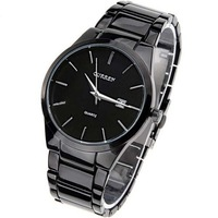 CURREN Brand Quartz Watch Men Military Watch Fashion Black Steel Sports Analog Watch For Men Black Case Silver Hands Round Bezel