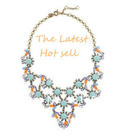 2013 New Fashion Jewelry!Free Shipping!Pastel and neon statement Necklace,Bib Necklace,Luxury Wedding jewelry!