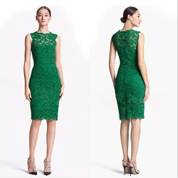 2013 new women's clothing slim round neck lace sleeveless and long sections dress free shipping(China (Mainland))