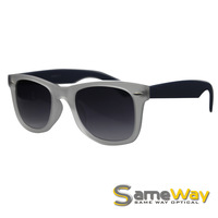 SAMEWAY OPTICAL UV400 Large Fasion Oval Motorcycle Sunglasses Shades in Smoke, Oversized Acetate Designer Glasses