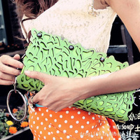 Free Shipping Korean Fashion Hollow Out Women Day Clutch Handbag Single Backpack Diagonal Package Hollow Out Clutch Bag