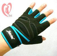 free shipping Men's Half Finger wrist fitness gloves slip gloves Fitness gloves dumbbell gloves